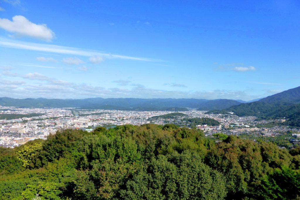 Shogunzuka Seiryu-den, Kyoto City from Obutai (Observatory)