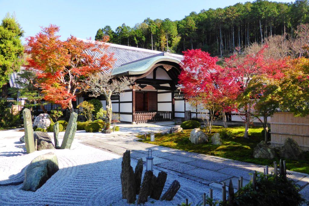 Enko-ji, Autumn leaves in Honryu-tei (Garden)